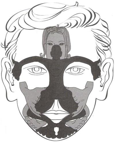 Reflexná terapia tváre, základná schéma prajekcie organiozmu na obličaji
