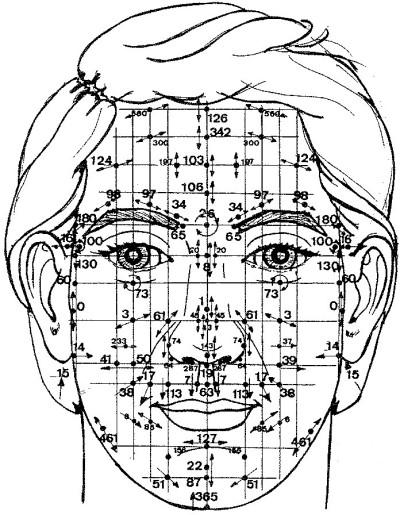 Reflexológia obličaja, reflexná terpaia tvár.